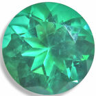 Lab Created Helenite Round Emerald Green,Red,Teal Faceted Gemstones Fine Cut AA+