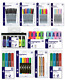 Pens Markers Felt Tips Highlighters - Home School Office Stationery Supplies