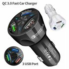 USB Car Wall Charger Rapid Charge Type C Cable For Samsung Galaxy S8 S9 Plus S10
