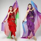 Women Fashion Silk Belly Dance Veil Scarf Gradient Color Changing Smooth Shawls