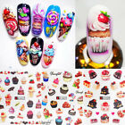 Colorful Nail Water Decals Dessert Cake Slider Transfer Stickers Nail Art Tips