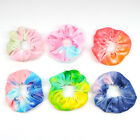 Rainbow Soft Velvet Tie-dye Hair Ring Rubber Band Elastic Hair Rope Scrunchies