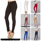 NEW Womens Soft Solid Stretchy Moleton Terry Basic Jegging Skinny Pants S-3XL