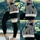 Women's High Waist Yoga Pants Print Sports Running Gym Stretch Leggings Trousers