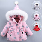 Baby Girls Infant Outdoor Hooded Thick Padded Coat Autumn Winter Casual Jackets