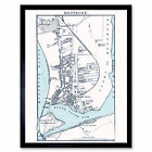 Map 1888 Bartholemew Montrose Town Scotland Plan Wall Art Print Framed 12x16