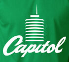 CAPITOL Tower T-Shirt Rock n Roll Stereo Music Recording Label S-6XL Gildan Tee image