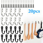 10/20* Wall Mounted Robe Hooks Single Coat Hanger & 20-40 Screws Home Applicable