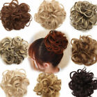 Women Blonde Hair Scrunchie Curly Messy Bun Updo Natural Human Hair Extension  for sale  Shipping to South Africa