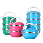 2/4 Layers Stainless Steel Lunch Box Bento Thermal Insulated Food Container New