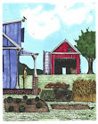 Original Pen and Ink Marker Drawing Surreal Bicycle Art Off The Grid Part 2 Farm
