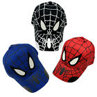 Kids Boys Spiderman Baseball Caps Adjustable Snapback Hip hop Outdoor Sun Hats
