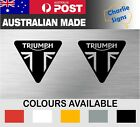 2x TRIUMPH MOTORCYCLE MOTOCROSS DECAL STICKER WATERPROOF CUT VINYL $9.95 AUD on eBay