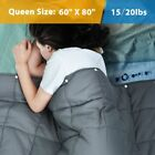 Premium Weighted Blanket 10/15/17/20lbs Cotton Blanket Sleep Therapy Anxiety image
