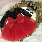 US Stock Toddler Kids Baby Girl Princess Party Lace Tutu Tulle Dress Clothes