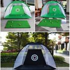 UK Golf Hitting Cage Training Indoor Outdoor Swing Trainer Chipping Net Foldable