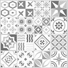 Grey Mosaic / Pattern Tile Stickers For 100Mm X 100Mm / 4 X 4 Inch Design G19