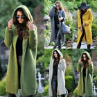 Women Chunky Knitted Baggy Hood Cardigan Coat Lady Sweater Jumper Fashion Tops
