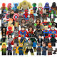 Marvel Avengers Minifigures Iron Man Thor Hulk Flash Batman Super Heroes toys photo