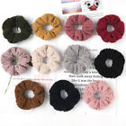 Women Candy Color Faux Fur Rubber Band Hair Rope Soft Velvet Hair Scrunchies New