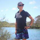 BNWT, Ladies Golf Top - Black Short Sleeves with Collar