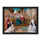 Master Of The Spes Nostra Memorial Tablet Painting Framed Wall Art Print 18X24