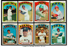 1972 TOPPS BASEBALL CARD SINGLES U-PICK #351-534 EX $2ea. FREE SHIPPING !!! $2.0 USD on eBay