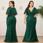 Kyпить Ever-Pretty US Plus Size V-neck Sequins Celebrity Gown Beaded Mermaid Prom Dress на еВаy.соm