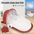 Portable Foldable Baby Cot Travel Crib Mummy Bag Mosquito Cover Multi-function