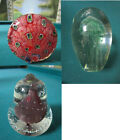 MURANO ITALY PAPERWEIGHT PEACOCK - CONTROLLED BUBBLE PEAR - JELLY FISH - PICK 1
