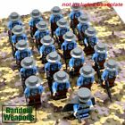 21Pcs/Set WW2 Military Soldiers US Britain Italy Japan Army Building Block Toy