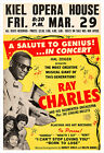 Ray Charles 1963 concert poster print