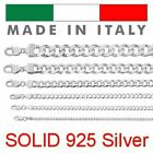 Kyпить Real Solid 925 Sterling Silver Cuban Chain Men's Women's 2-14mm Italy Necklace на еВаy.соm