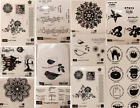 NEW Retired Stampin' Up Wood-Base Rubber Stamps, Many Patterns to Choose