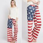 American Flag French Terry Pants Womens Couture S, M, L Red White Blue NEW