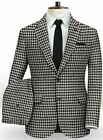 Houndstooth Dogstooth Men Suits Dinner Groom Prom Tuxedos Party Suit Blazer