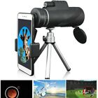40X60 Zoom Monocular Telescope Camera Lens + Holder + Tripod for Universal Phone