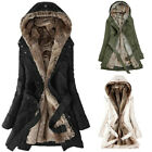 Ladies Fur Lining Coat Womens Winter Warm Thick Long Jacket Hooded Parka 2019 US