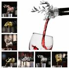 Stopper Bottle Aerators Wine Pourer Kirsite Deer Head Animal Head Bar Accessory