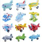 Kids Wooden Airplane Car Toy 12 Pack Eco-Friendly Wood Model Educational Toys N3