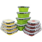 4pcs/set Silicone Folding Bento Box Collapsible Lunch Box Food Storage Container