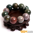 """Natural Indian Agate Round Loose Beaded Energy Healing Stretchy Bracelet 7"""" Gift"""