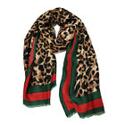Designer Inspired Leopard Print Brown Cotton Lightweight Scarf Wrap Celebrity