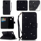 -ZHYB Rhinestone Butterfly&Flower Strap Leather Flip Case Cover For Call Phone