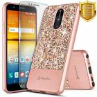 For LG Stylo 4 / Stylo 4 Plus Case Bling Glitter Phone Cover + Screen Protector