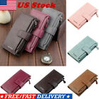 Women Leather Wallet Clutch Long Purse Large Capacity Card Phone Holder Handbags image