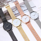 NEW Fashion Women Ladies Stainless Steel Wrist Watch Rose Gold Mesh Band Watches image