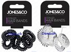 6 Pack Spiral COIL HAIR BAND Tangle Telephone Cord Wire Plastic Elastics Bobble