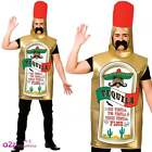 Tequila Vodka Bottle Alcohol Mens Adult Stag Night Party Fancy Dress Costume