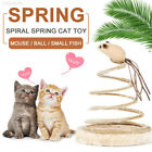 CB80 Small Fish Spring Cat Toy Elastic Spring Mouse Gift Interactive Funny